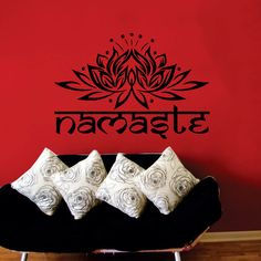 Yoga Namaste Wall Decal Vinyl Sticker Wall Decor Home by CozyDecal, $15.99