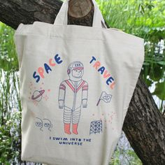 Cottonbag Big 02 spaceman / by circus boy band