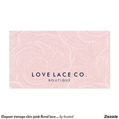 Elegant vintage chic pink floral lace cute pattern pack of standard business cards