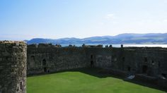 North Wales from Beaumaris castle on the Isle of Anglesey...