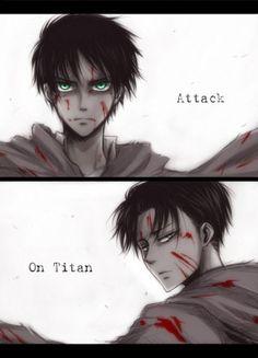 #eren #levi Attack on titan