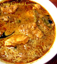 Spicy Chicken Curry with Onion Tomato Oil Bay Leaf Curry Leaves Cumin Seeds Coriander Leaves Chicken Turmeric Powder Lemon Juice Salt Grated Coconut Coriander Seeds Curry Leaves Whole Peppercorns Kalpasi Cinnamon Stick Cardamom Star Anise. Easy Indian Recipes, Asian Recipes, South Indian Chicken Recipes, Spicy Chicken Curry Recipes, Veg Recipes, Cooking Recipes, Cooking Tips, Vegetarian Recipes, Chettinad Chicken