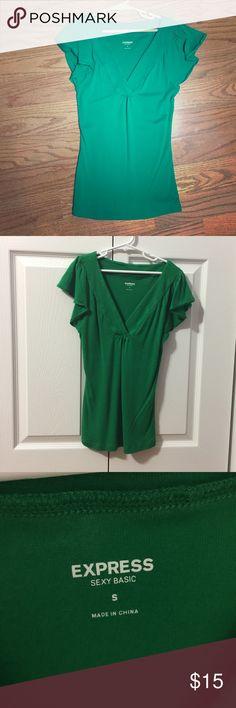 Top Flowy short sleeves, vneck Express Tops Tees - Short Sleeve