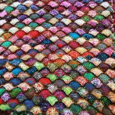 "Charan Sachar (@charansachar) on Instagram: ""It has been great getting compliments on my Sea Shell scrap yarn blanket pattern over the last…"""