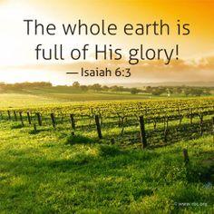 Isaiah 6:3   https://www.facebook.com/photo.php?fbid=10152014312025673
