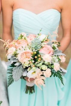 EDISTO ISLAND WEDDINGS - Middleton Plantation wedding with a mint and peach color palette by Jessi Nichols Photography wedding colors september / fall color wedding ideas / color schemes wedding summer / wedding in september / wedding fall colors Tiffany Blue Bridesmaid Dresses, Wedding Bridesmaids, Wedding Dresses, Wedding Blush, Peach Dresses, Peach Wedding Theme, Mint Gold Weddings, Tiffany Blue Weddings, Orange Weddings
