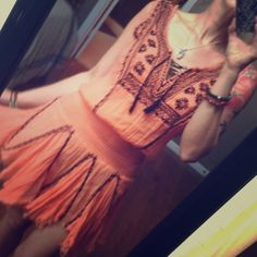 Flash SaleOrange XS Free People One Fez Flowing Gauze One Fez Dress By Free People Free People Dresses Mini