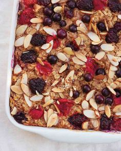 Baked Oatmeal - Add some mini-chocolate chips for a chocolate lover.