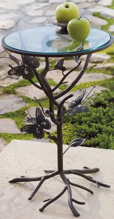 Our charming Butterfly Garden Outdoor Side Table is rooted in handcrafted quality.