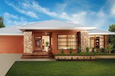 Dream House Plans, Modern House Plans, Modern House Design, Beautiful Small Homes, Bali House, House Design Pictures, Modern Bungalow House, Story House, Facade House