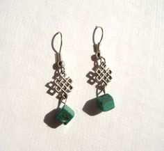 Whimsical Turquoise Earrings by TheWhimsicalWodgelet on Etsy, $7.00