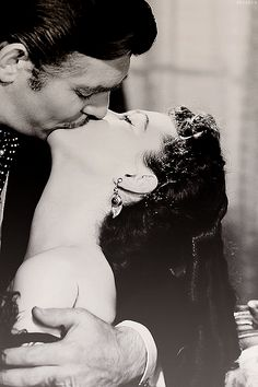Clark Gable and Vivien Leigh - best kiss ever in a movie....forever
