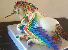 Unicorn rainbow cake. Regenboog eenhoorn taart