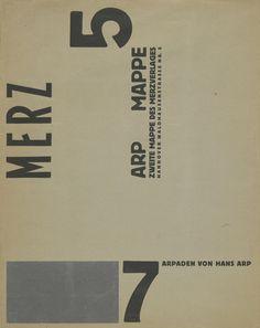 Cover from Merz 7 Arpaden by Hans Arp. Second Portfolio of the Merz Publisher (Merz 7 Arpaden von Hans Arp. Cool Typography, Typography Layout, Graphic Design Typography, Graphic Design Illustration, Kurt Schwitters, Bauhaus, Hans Arp, Portfolio Covers, Print Layout