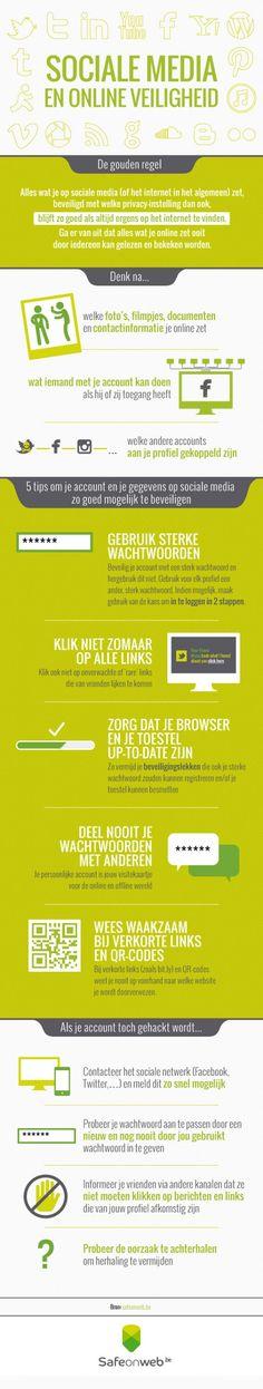 Infographic: sociale media en online veiligheid