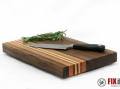Learn how to make a cutting board from wood offcuts in your shop or from high quality hardwoods. Use this tutorial to build your own DIY cutting board! Scrap Wood Projects, Woodworking Projects Diy, Woodworking Shop, Woodworking Plans, Woodworking Patterns, Woodworking Workshop, Kids Table And Chairs, A Table, Handy Shop