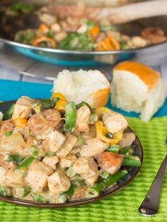 This quick and easy Cajun stir fry is loaded with protein and vegetables. Great for busy weeknights!