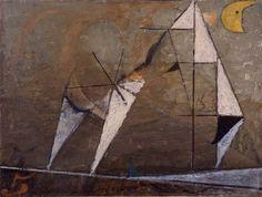 Osvaldo Licini, L'inverno, 1951, olio su tela, cm 50 x 67, GAM - Galleria Civica d'Arte Moderna e Contemporanea, Torino.