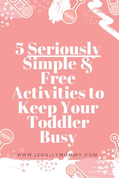 Simple at home activities using items from your cupboards and around the house.