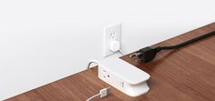 Bluelounge's Portiko multi-device outlet | a genius cord clutter solutions for travel or mounting to a wall at home
