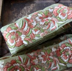 Pistachios & Peaches: Sequins Green Peach by WomanShopsWorld