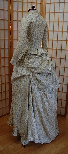 An 1880s Cotton Print Bustle Dress (includes patterns)