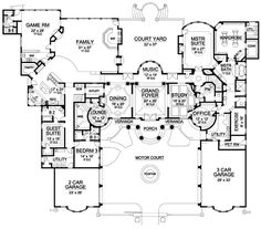 I love floor plans. This one is a mansion!