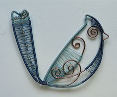 Woven Wire Blue Jay Blue Bird by auntgriz, via Flickr