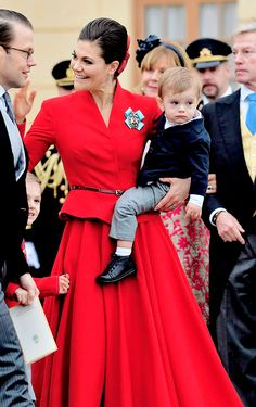 December 1, 2017 || The Swedish Royal Family attends baby Prince Gabriel's christening in Drottningholm Palace Chapel outside Stockholm, Sweden