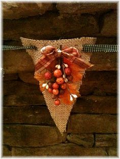 burlap banner with black gingham ribbon