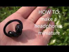 Headphones Miniature Polymer Clay Charm Tutorial
