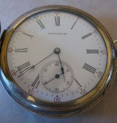 1909 A w w Co Waltham Mass 15 Jewel 1894 Pocket Watch Keystone Double Hunter GF | eBay