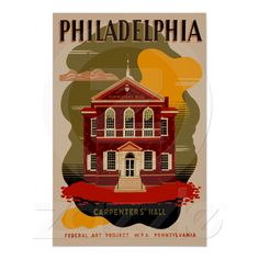 Philadelphia Pennsylvania travel poster