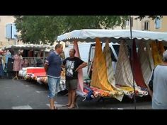 French markets. South of France, daily market in Aix en Provence. - YouTube