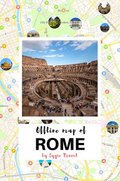 Kuching printable tourist map pinterest tourist map kuching and offline map of rome italy by sygic travel download the app for ios gumiabroncs Image collections