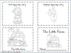 Maggie's Kinder Corner: New FREEBIE! Foldable Sight Word Reader: The Little Farm
