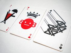 Typographic Playing Cards by Junli Kato, via Behance