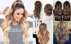 Medium ombre hairstyle – soft curly hairstyles with braids via instagram Many braided styles look beautiful with medium hair. The half-up style above is extremely easy to create and it looks intricate and elegant for any occasion. Easily create this style by braiding and securing the top section of your hair. Then, just curl the …