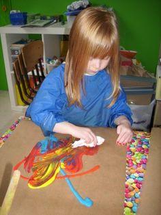 schilderen met doekjes