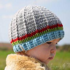 Detské čiapky - Prechodná... farebné pásiky - 5361897_