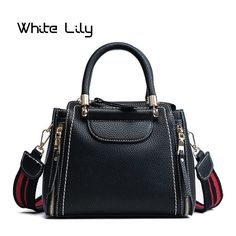 3769a8b710ca [40% off] New Arrival Panelled Women PU Leather Handbag Fashion Women Wide  Shoulder