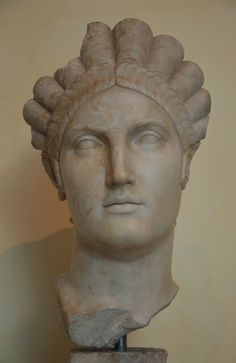 Portrait of Salonina Matidia (niece of Trajan and mother of Vibia Sabina who would marry the future Roman Emperor Hadrian), from Luni, c. 119 CE. (Capitoline Museums, Rome)