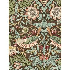 Buy Morris & Co Strawberry Thief Wallpaper, 212565 Online at johnlewis.com