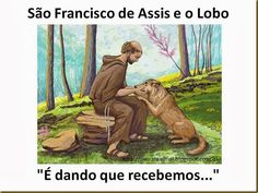 Mural Animal: São Francisco de Assis e o Lobo