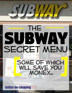 The Subway Secret Menu Is Totally Awesome (and May Even Save You Cash) - Life hacks - Sandwich Fast Food Secret Menus, Secret Menu Items, Best Money Saving Tips, Saving Money, Money Tips, Best Subway Sandwich, Subway Tuna, Totally Awesome, Cooking