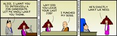 Dilbert comic - funny job interview