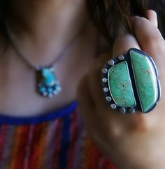 The Mountain Breeze - Variscite Sterling Silver Ring
