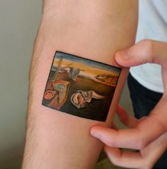 The Persistence Of Memory, Salvador Dali tattoo by maria_saiz.tattoo