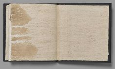 Richard Long, River Avon Book, 1979, Book with mud on paper