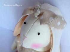 Tilda bunny Rabbit puss Soft toy Textile Toy Interior Toy Gift